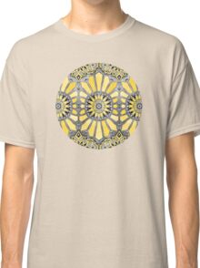 Sunny Yellow Radiant Watercolor Pattern Classic T-Shirt