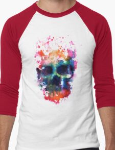 Splatter and Bone on Black Men's Baseball ¾ T-Shirt