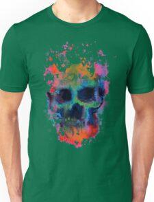 Splatter and Bone on Black Unisex T-Shirt