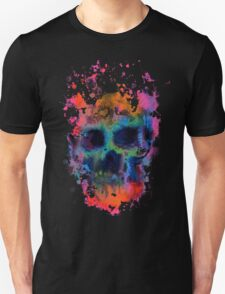 Splatter and Bone on Black Unisex T-Shirt