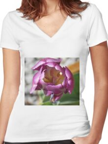 Pink Tulip Women's Fitted V-Neck T-Shirt