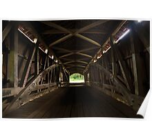 Old Mill Covered Bridge Poster