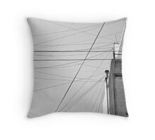 Don't You Dare Cross That Line Throw Pillow