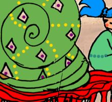 Pi Sung & Kei. Her giant green shell snail Sticker