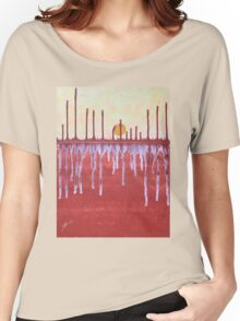 Cattails original painting Women's Relaxed Fit T-Shirt