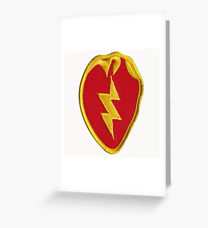 25th Infantry Greeting Card