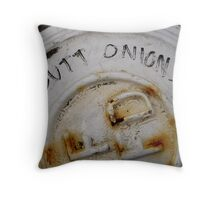 Butt Onions Throw Pillow