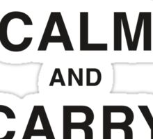 Keep calm and carry on making keep calm and carry on posters BW Sticker