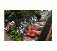 North West America Totem Poles Art Print