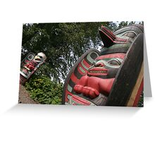 North West America Totem Poles Greeting Card