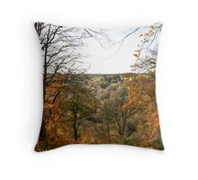 Autumn Trees in Forest Throw Pillow