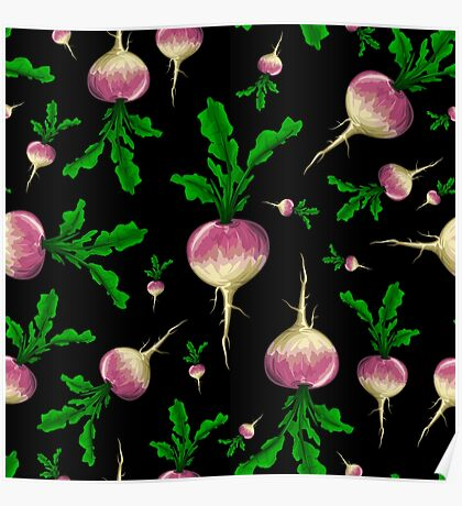 Veggiephile - Turnips Poster