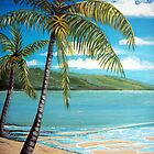 Palm Trees - Seascape by © Linda Callaghan