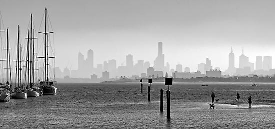 Melbourne Skyline #2 by Mark Boyle