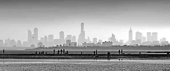 Melbourne Skyline #1 by Mark Boyle