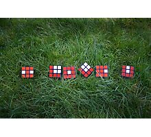 """Love is like a Rubik's Cube... Photographic Print"