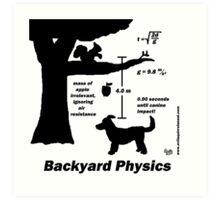Backyard Physics Art Print