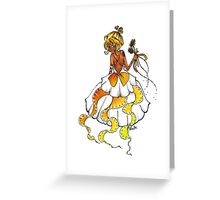 Black Beads and Sunflowers Greeting Card