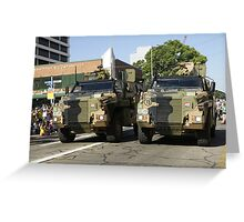 Bushmaster Infantry Mobility Vehicle, Australia Greeting Card