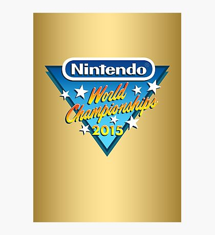 Nintendo World Championships 2015 Logo Photographic Print