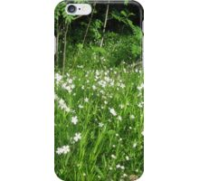 Forest flowers with grass iPhone Case/Skin