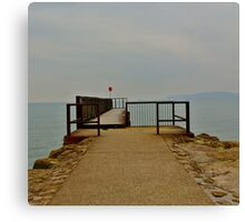 Lonely Pier Canvas Print