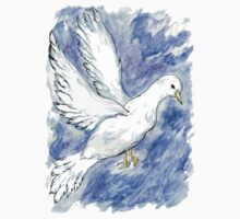 Dove Sketch 3 One Piece - Long Sleeve