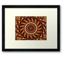 Brown Tan Gold Kaleidoscope Art 11 Framed Print