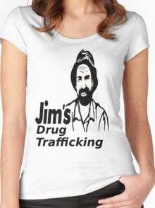 Jim's Drug Trafficking Women's Fitted Scoop T-Shirt