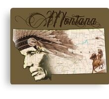 Montana Native American Canvas Print