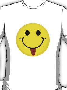 Smiley Face With Pierced Tongue T-Shirt