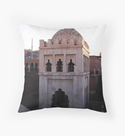 Tower in the Medina Throw Pillow
