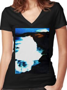 Rough Sea Women's Fitted V-Neck T-Shirt
