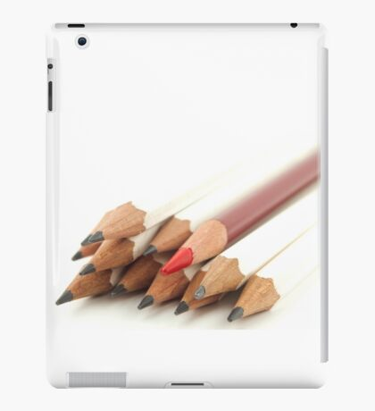 White and Red Pencils iPad Case/Skin