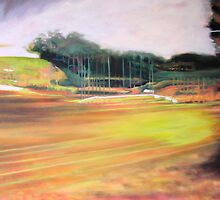 passing tugan (abstract impression of a service station) by maria paterson