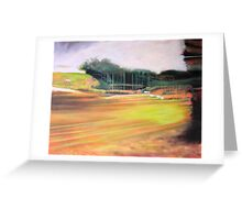 passing tugan (abstract impression of a service station) Greeting Card