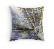 River Plym 1a Throw Pillow