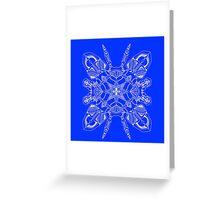 Robo Pattern Blue Greeting Card