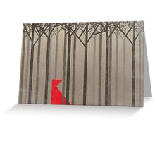 Minimal Little Red riding hood Greeting Card
