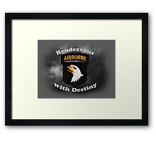 101st Airborne Division - Rendezvous with Destiny Framed Print