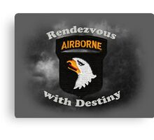 101st Airborne Division - Rendezvous with Destiny Canvas Print