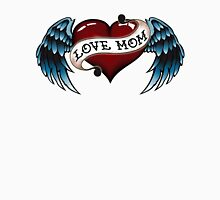 Tattoo Love Mom Womens Fitted T-Shirt