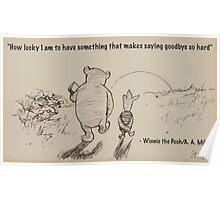 Saying Goodbye Poster