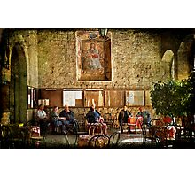 Italian conversation at the café Photographic Print