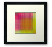 Spring-Summer Colour Plaid Framed Print
