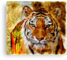 Painted Tigers Canvas Print