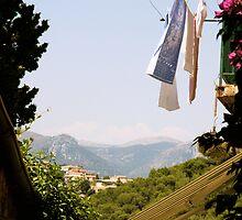 hanging laundry 1 by Sonia de Macedo-Stewart