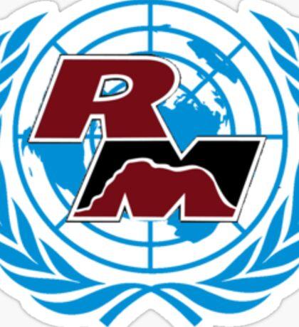 Red Mountain Model UN Logo Blue  Sticker