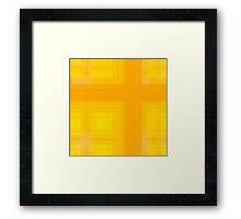 Spring-Summer Colour Plaid (Yellow-Orange) Framed Print