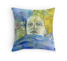 Study for Woman's Head Throw Pillow